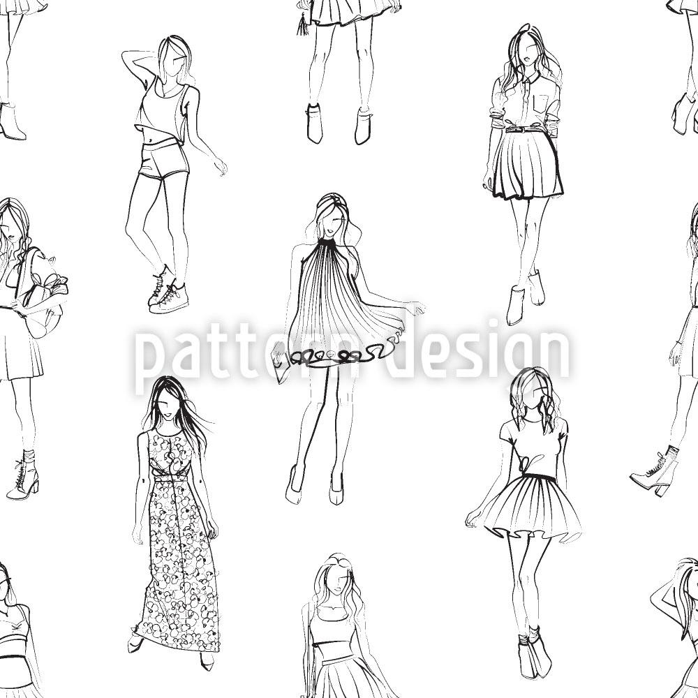 Designtapete Damen Modewelt
