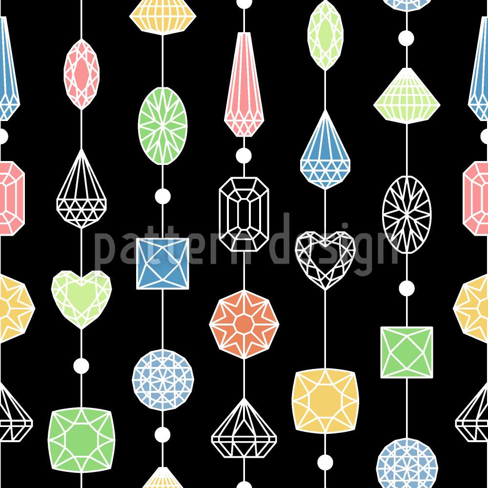 Designtapete Vorhang Aus Edelsteinen