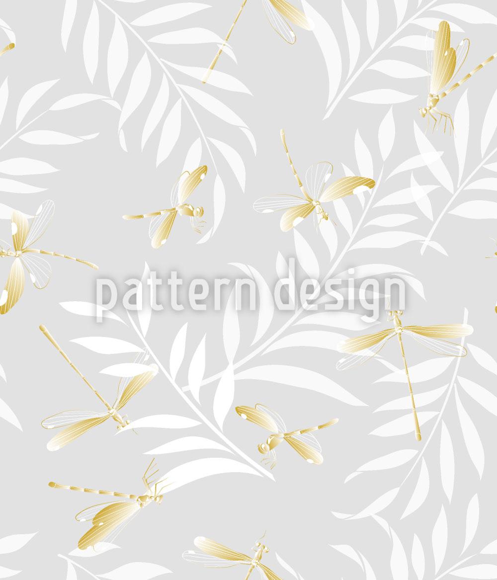 Designtapete Goldene Libellen