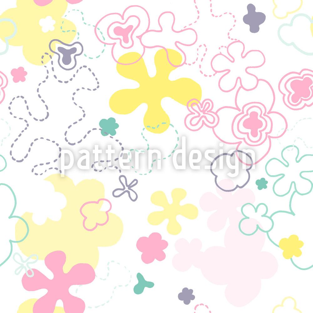 Designtapete Traum Blumen Garten