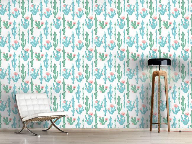 Designtapete Blühender Kaktus