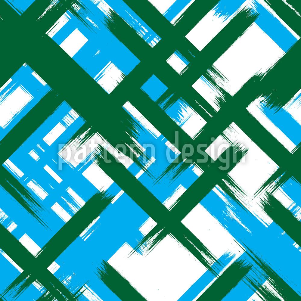 Designtapete Abstrakt Tartan