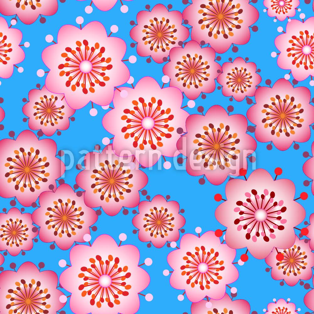 Designtapete Blüten Aus Japan