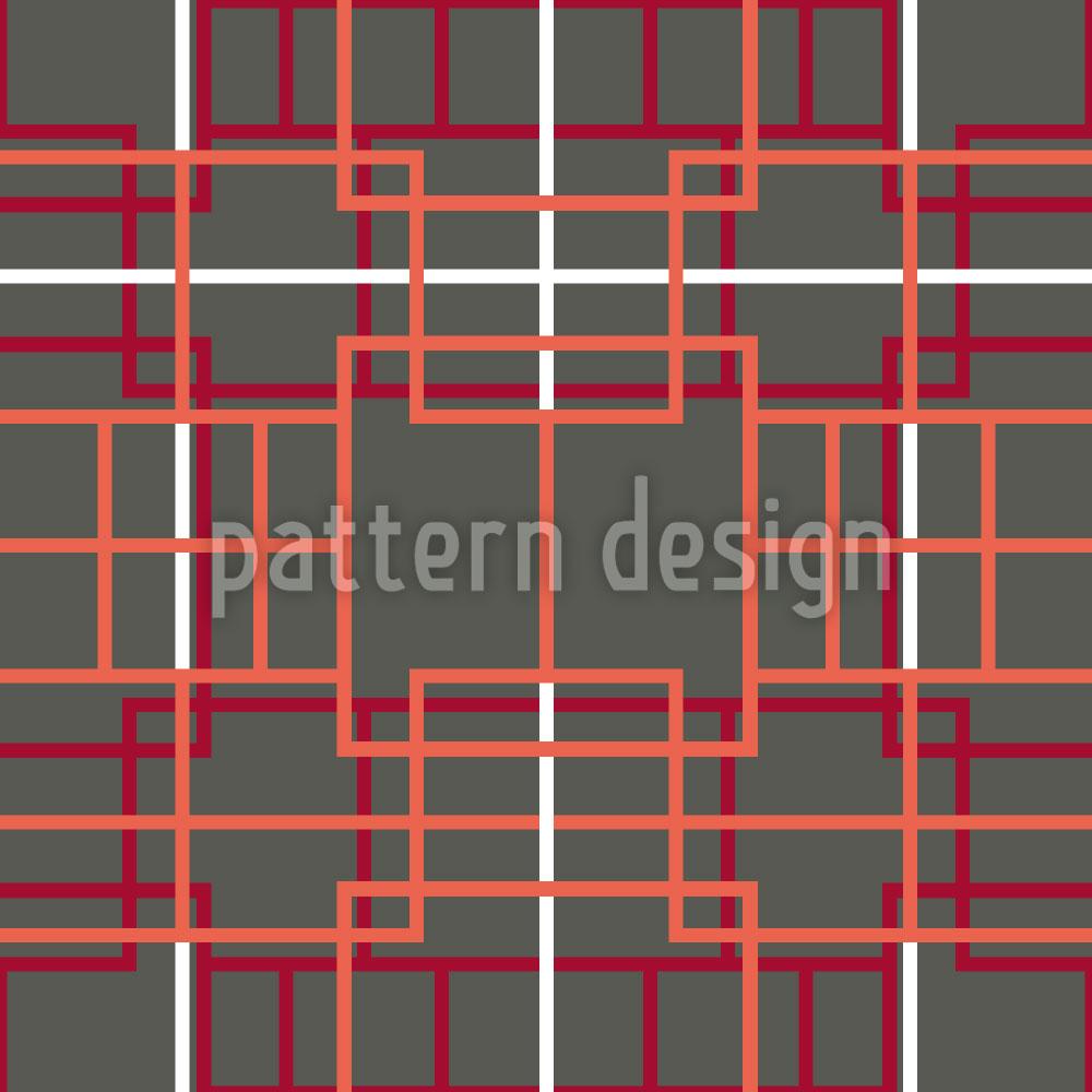 Designtapete Asiatisches Gitter