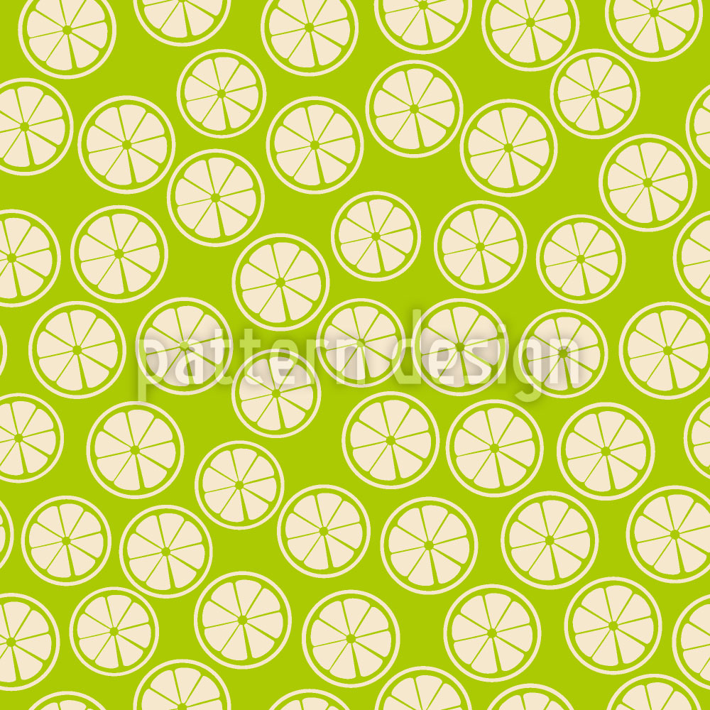 Designtapete Zitronen Scheiben