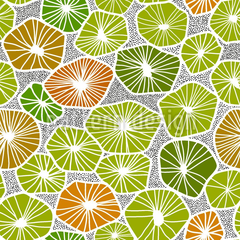 Designtapete Fruchtscheiben