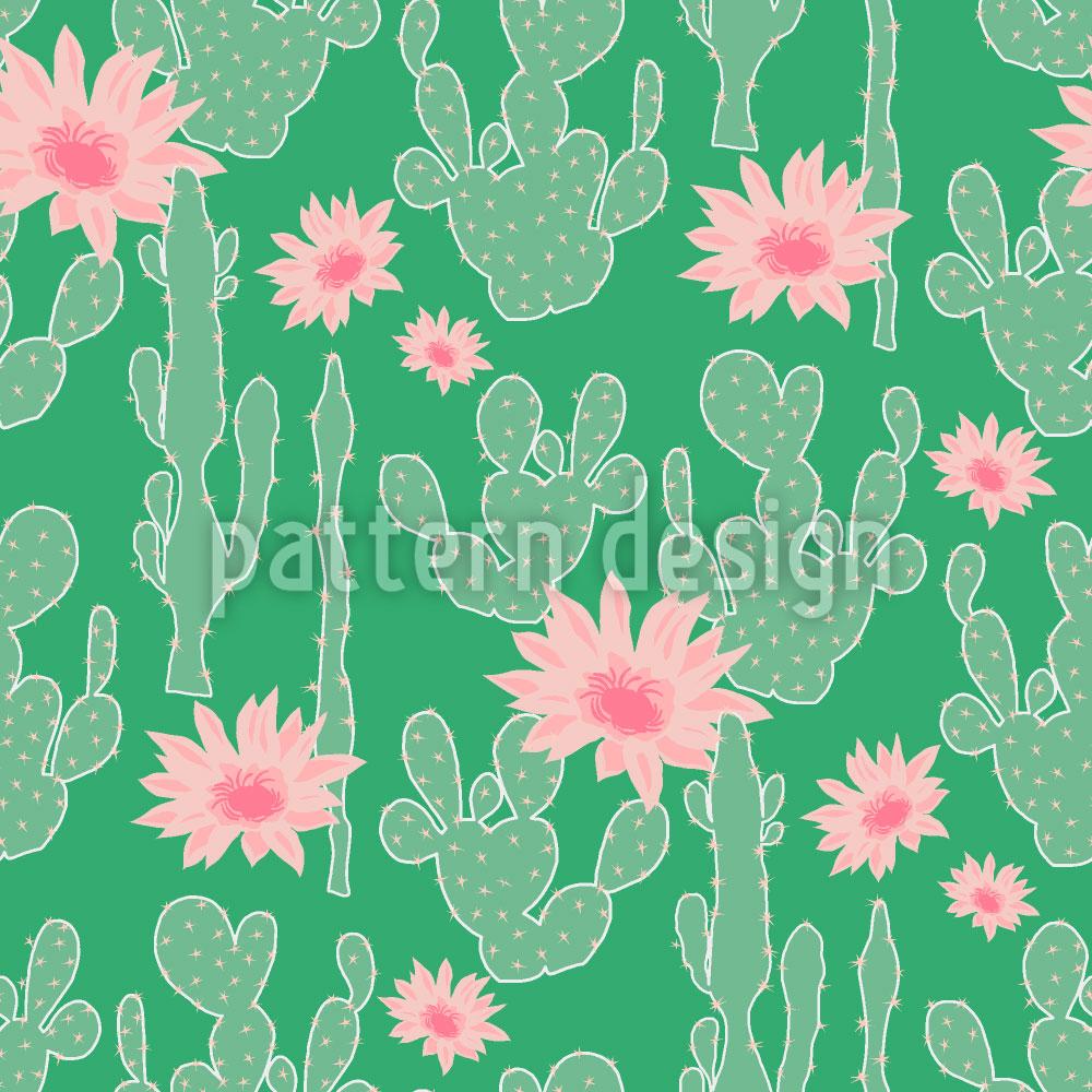 Designtapete Kaktus Blüte