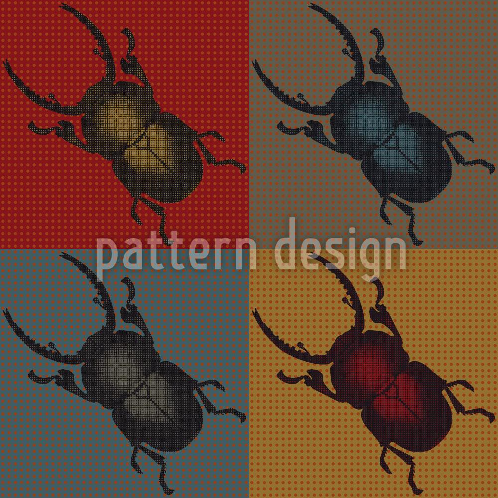 Designtapete Käfer Im Herbst
