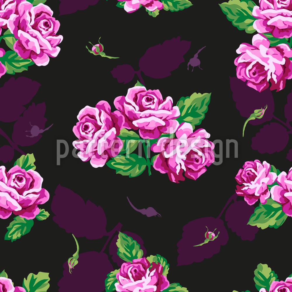 Designtapete Nostalgie Rosen Bouquet