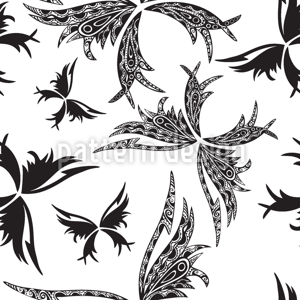 Designtapete Tattoo Papillon
