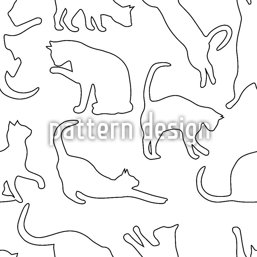 Designtapete Spielende Katzen