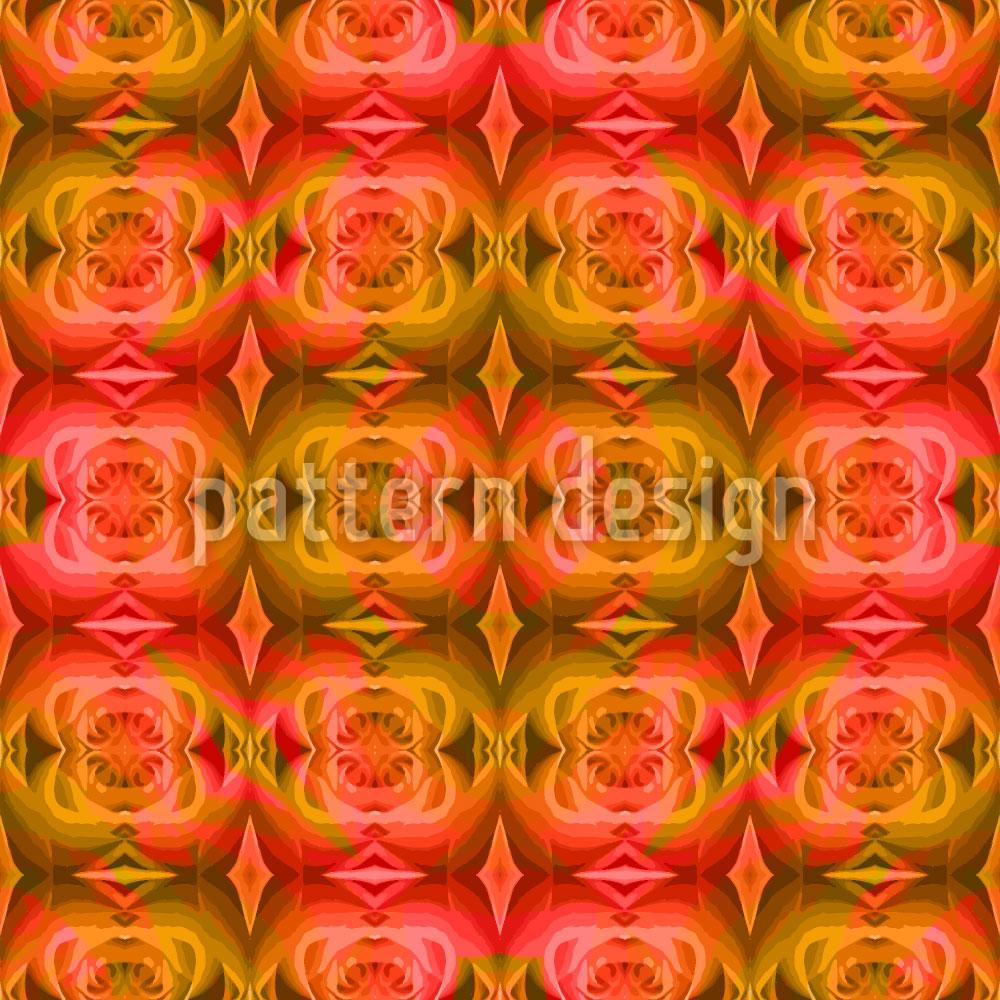 Designtapete Die Rose Träumt
