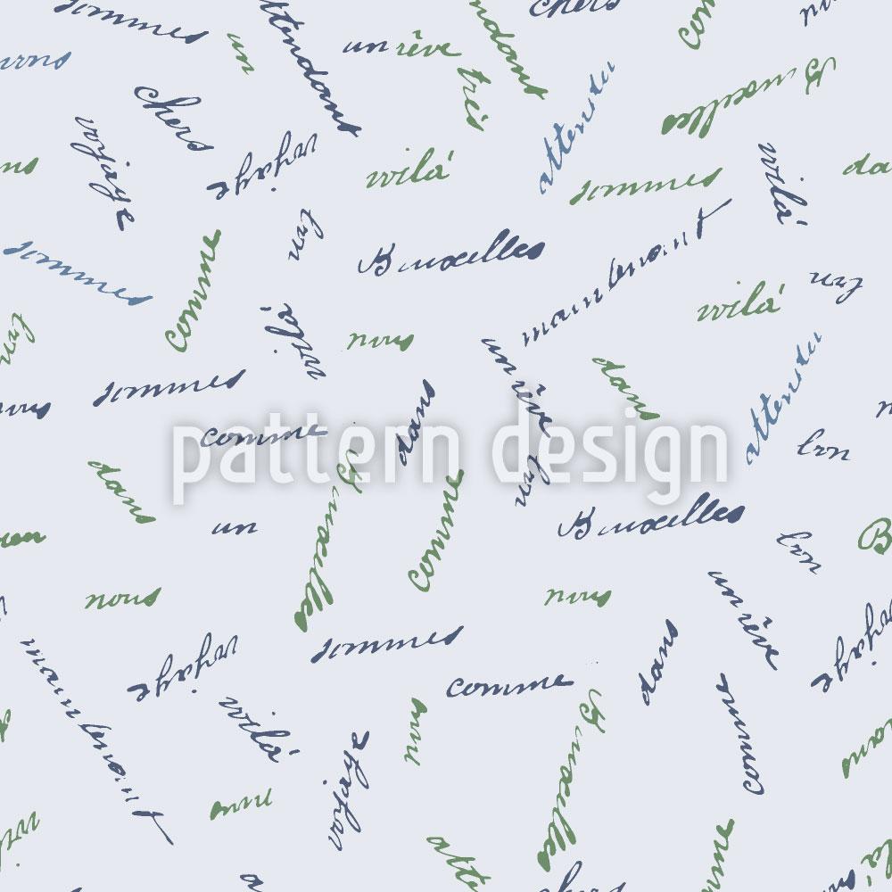 Designtapete Französische Worte