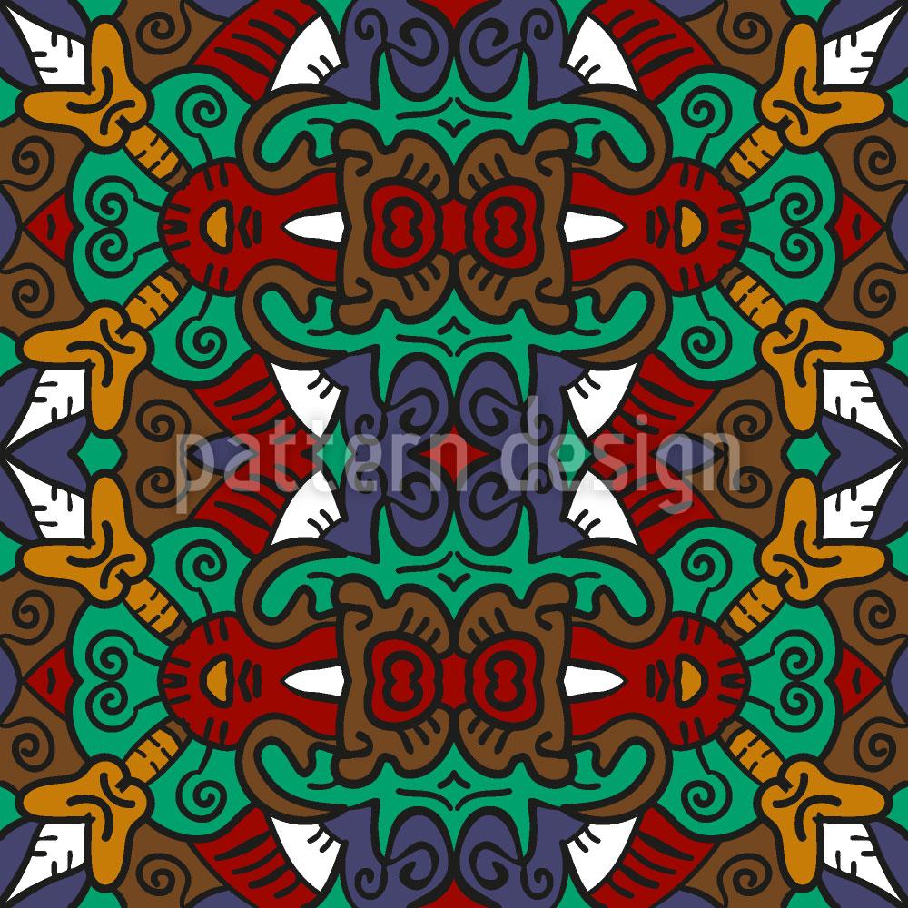 Designtapete Stammes Häuptling