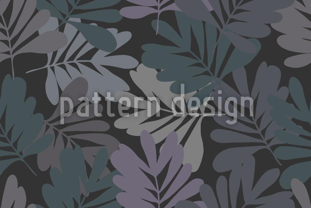 Designtapete Blätter Bei Nacht