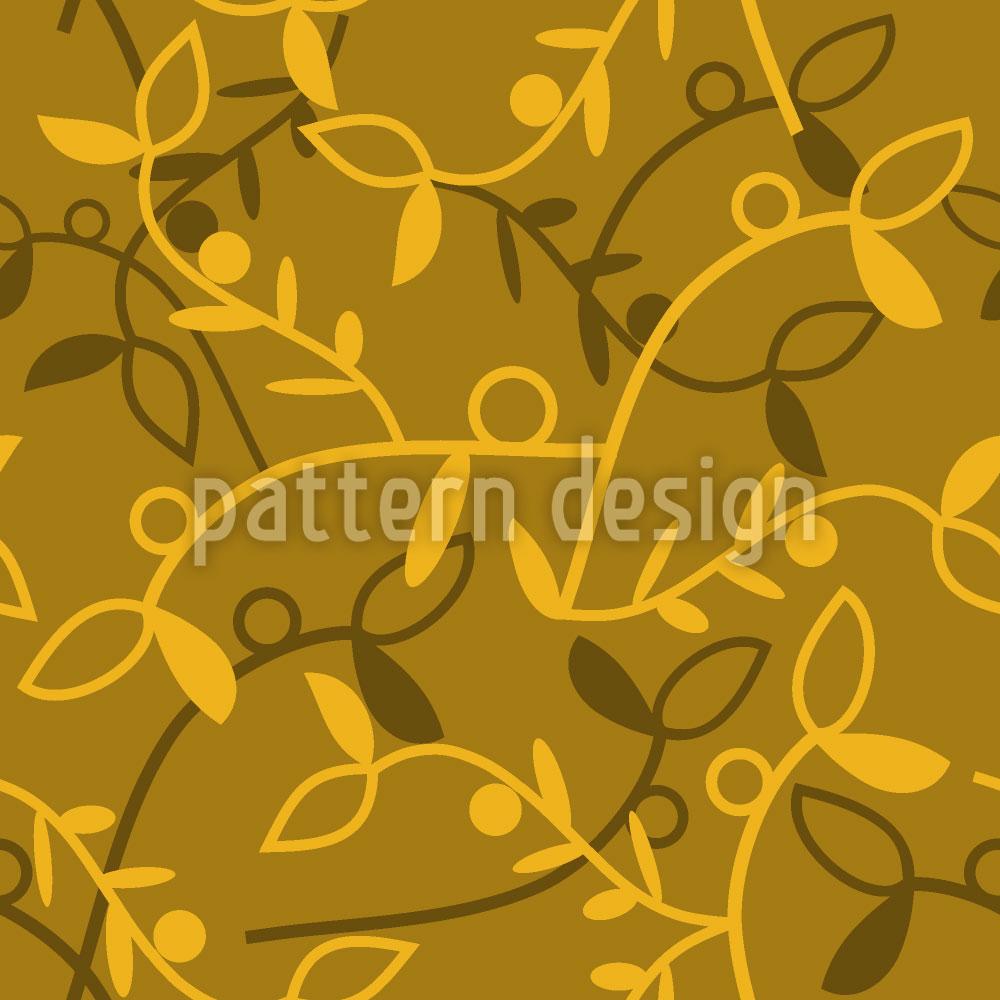 Designtapete Rankendes Blattwerk Im Herbst