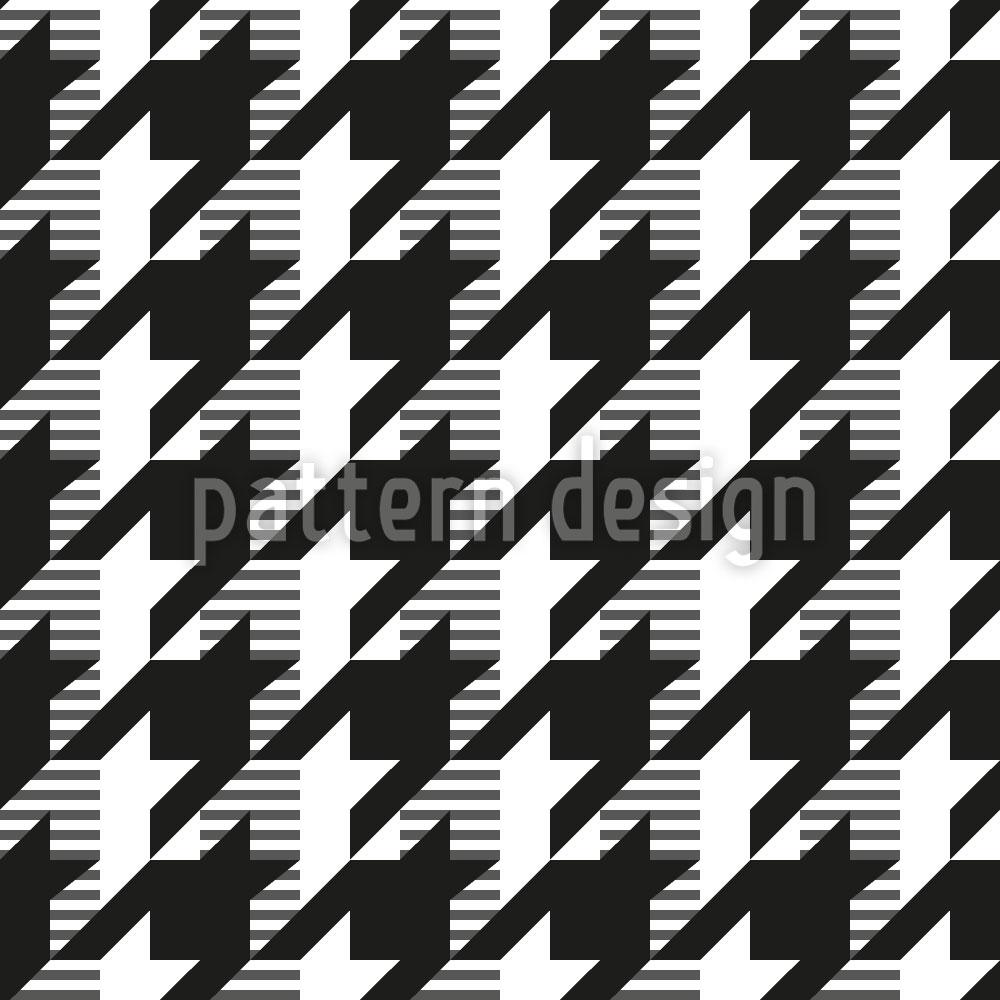 Designtapete Hahnentritt Variation