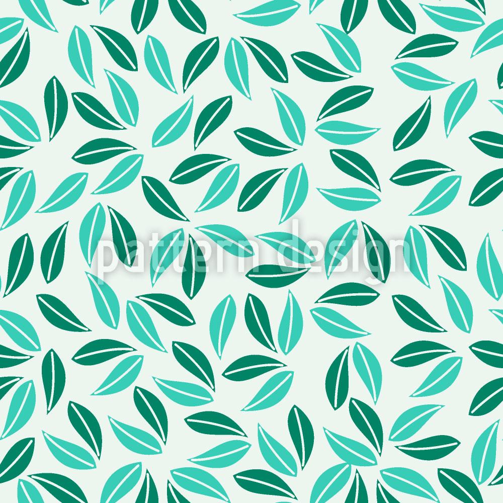 Designtapete Tropisches Blattwerk