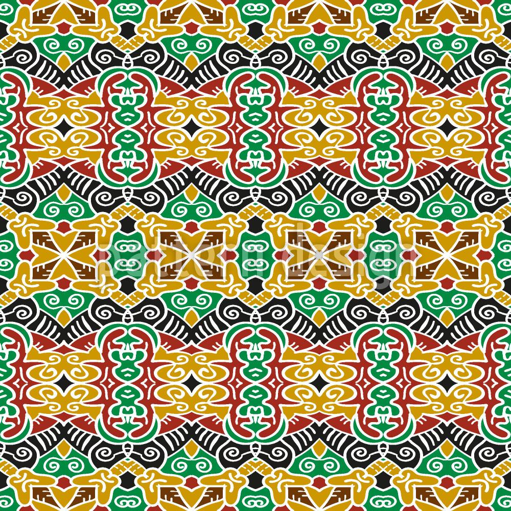 Designtapete Stammes Verbindungen