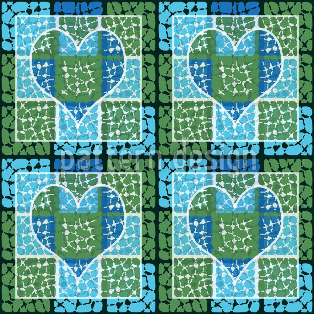 Designtapete Zuneigung Zum Quadrat