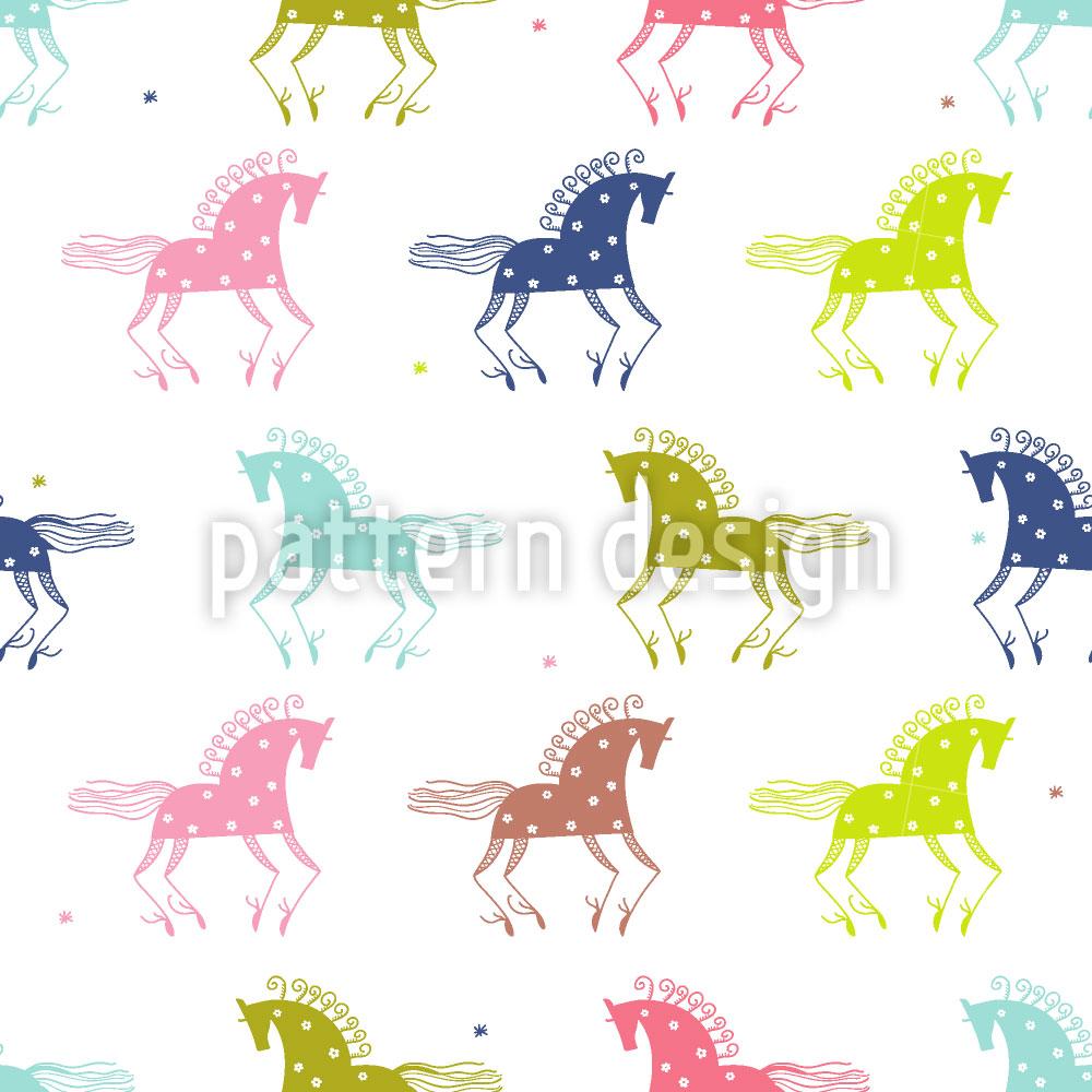 Designtapete Wilde Pferde