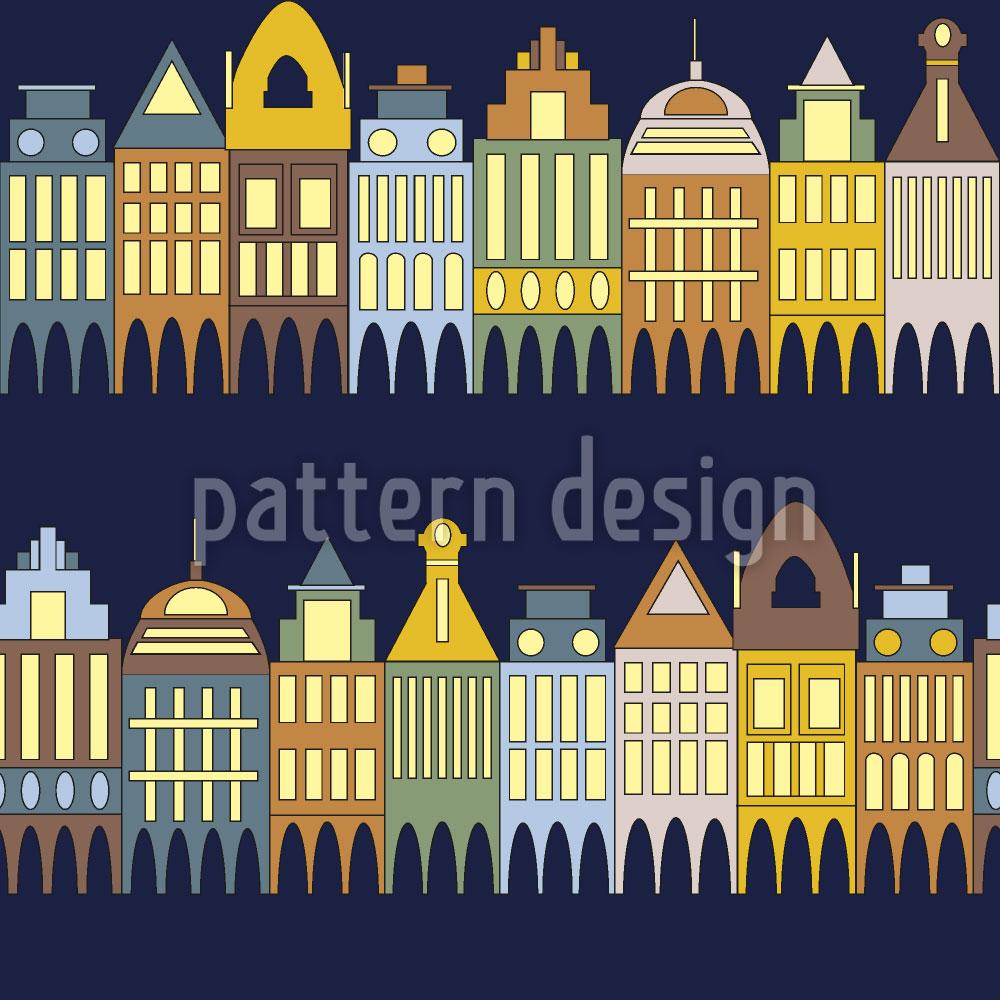 Designtapete Häuserzeile