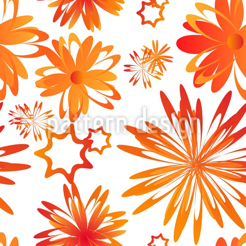 Designtapete Drehende Blumen