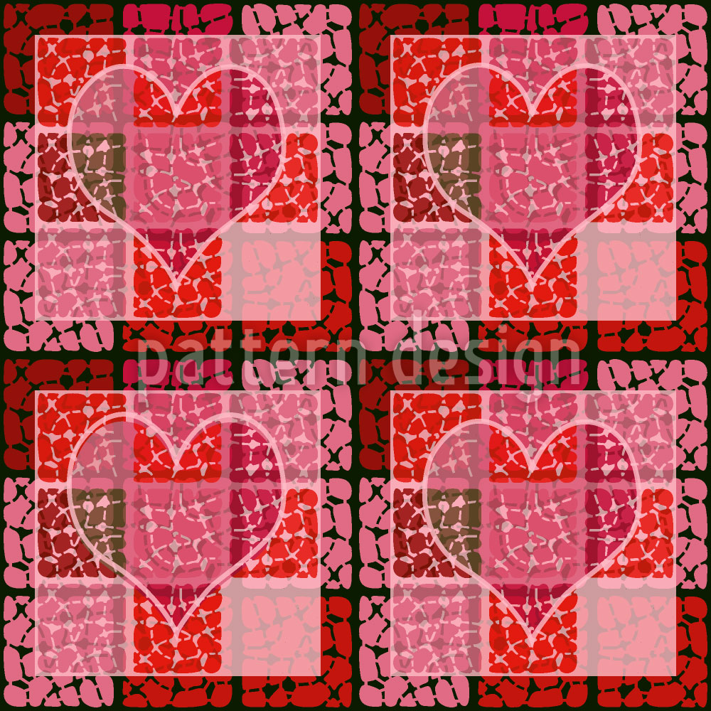 Designtapete Herz Zum Quadrat