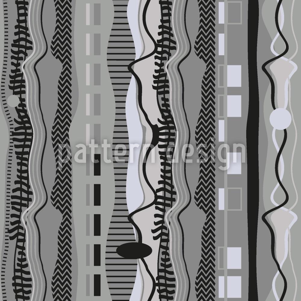 Designtapete Stoff Spuren