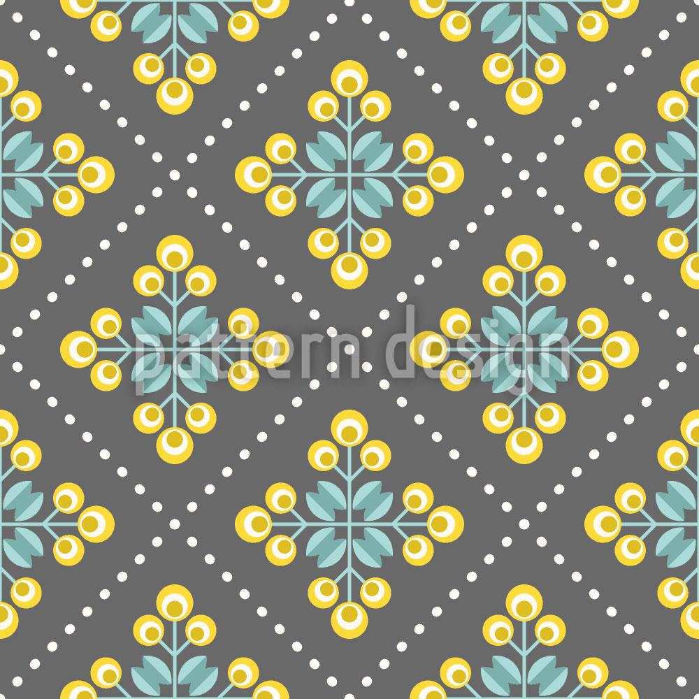 Designtapete Retro Patchwork Blumen