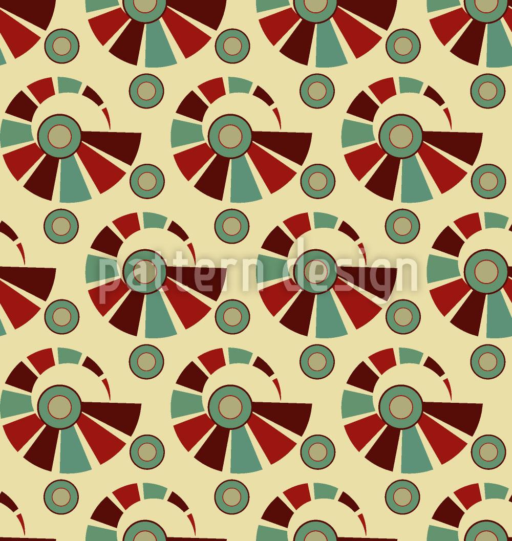 Designtapete Vintage Spiralen
