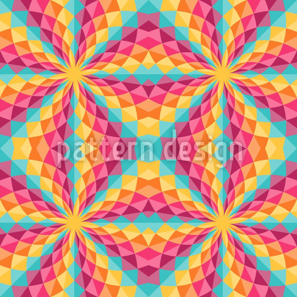 Designtapete Farbiges Kaleidoskop
