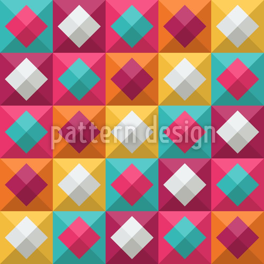 Designtapete Karo Zum Quadrat