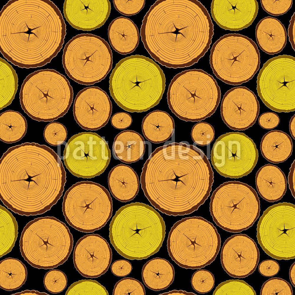 Designtapete Holz Scheiben