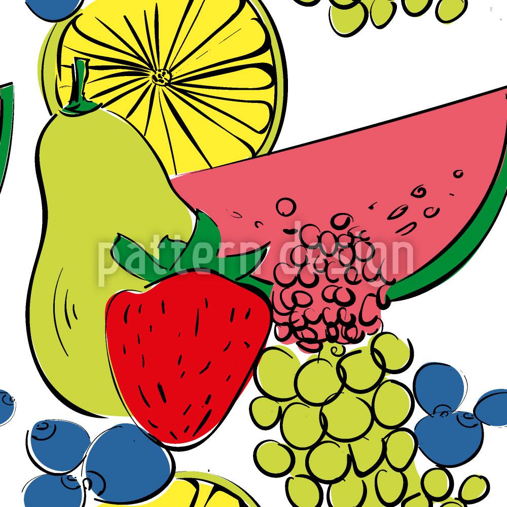 Designtapete Frucht Cocktail