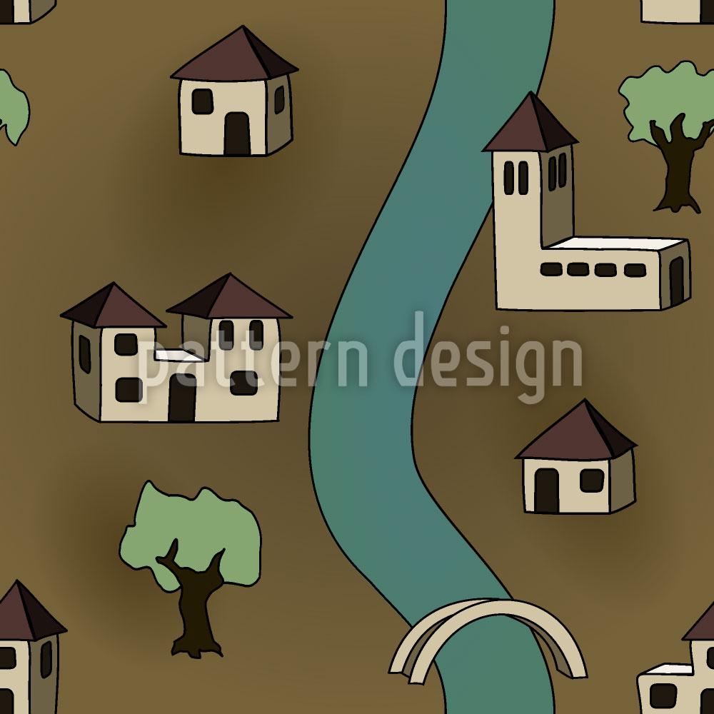 Designtapete Dorf Ohne Menschen