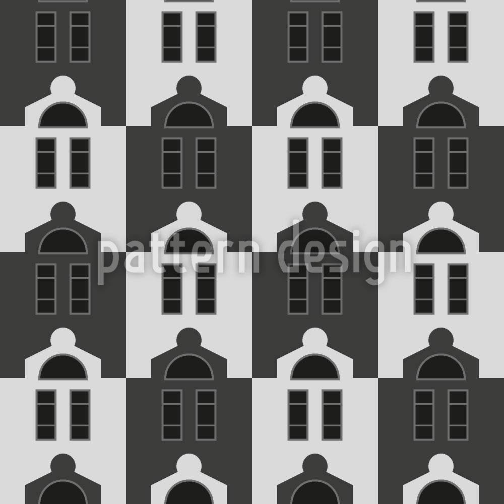 Designtapete Uniforme Häuser