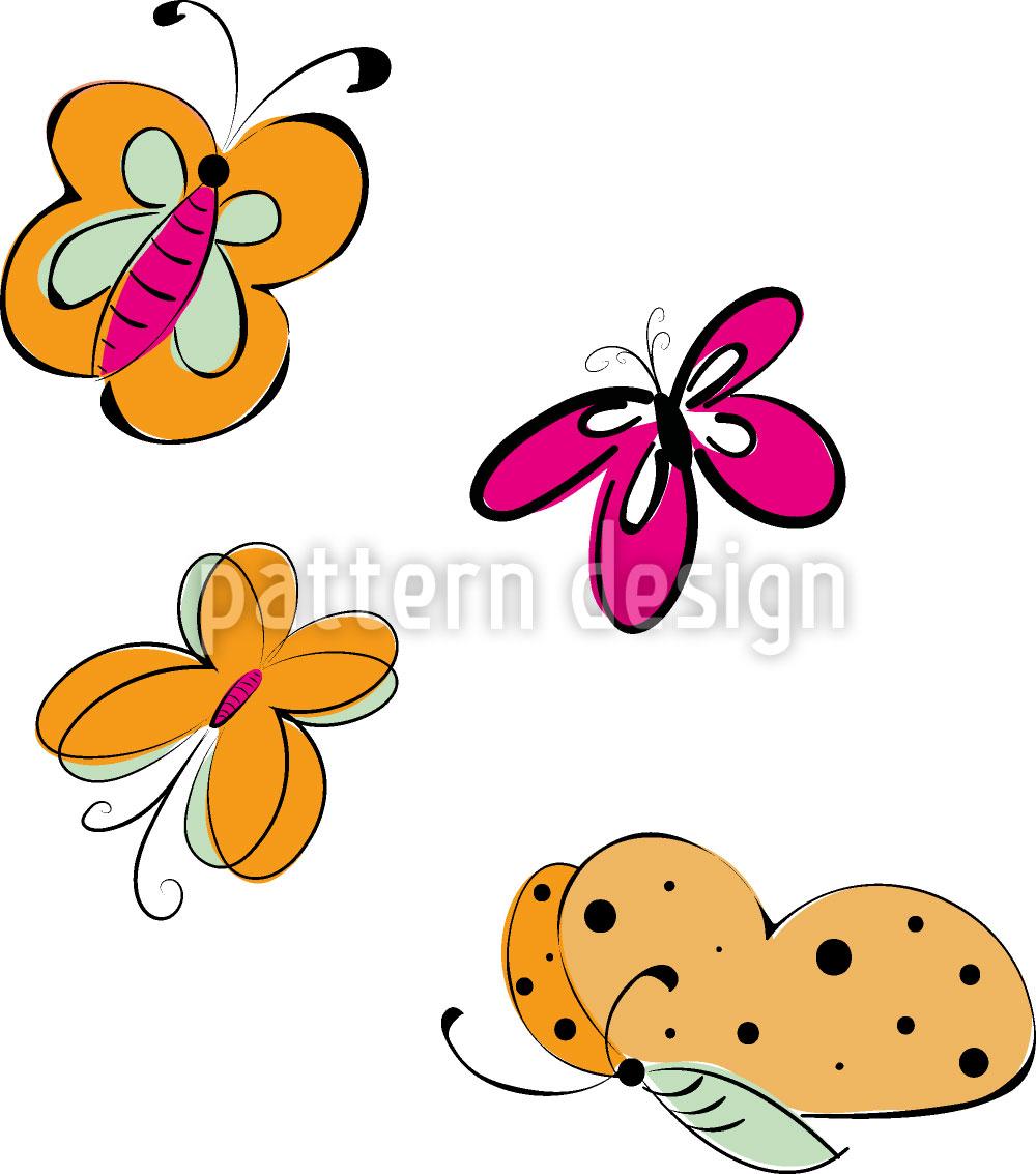 Designtapete Schmetterlings Ausflug