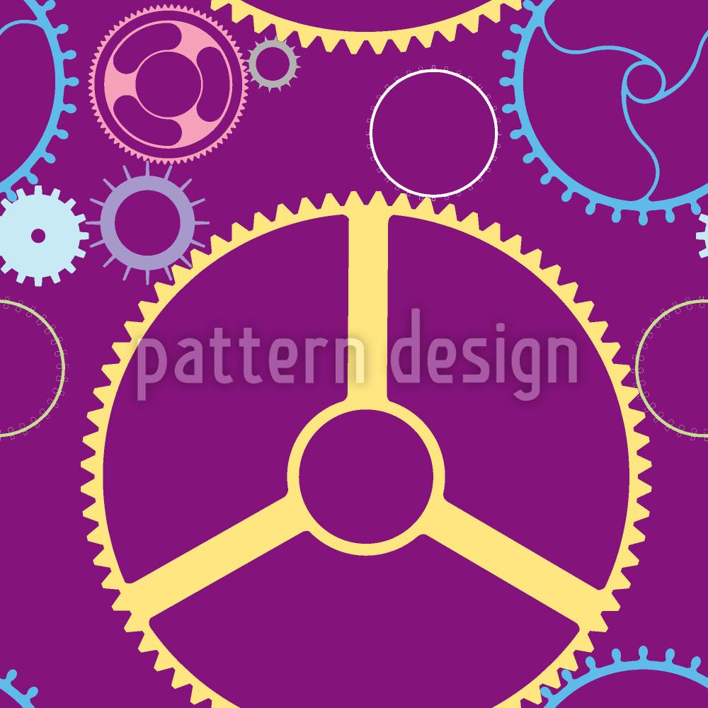 Designtapete Mechanische Räder