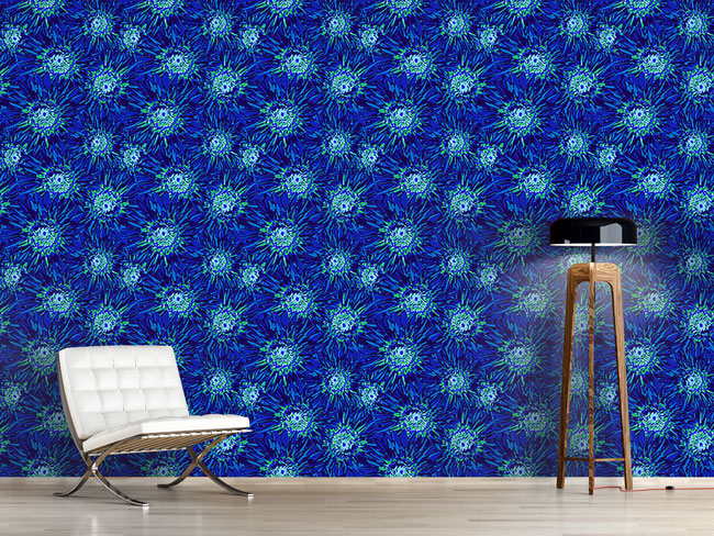 Designtapete Pop Art Blumen