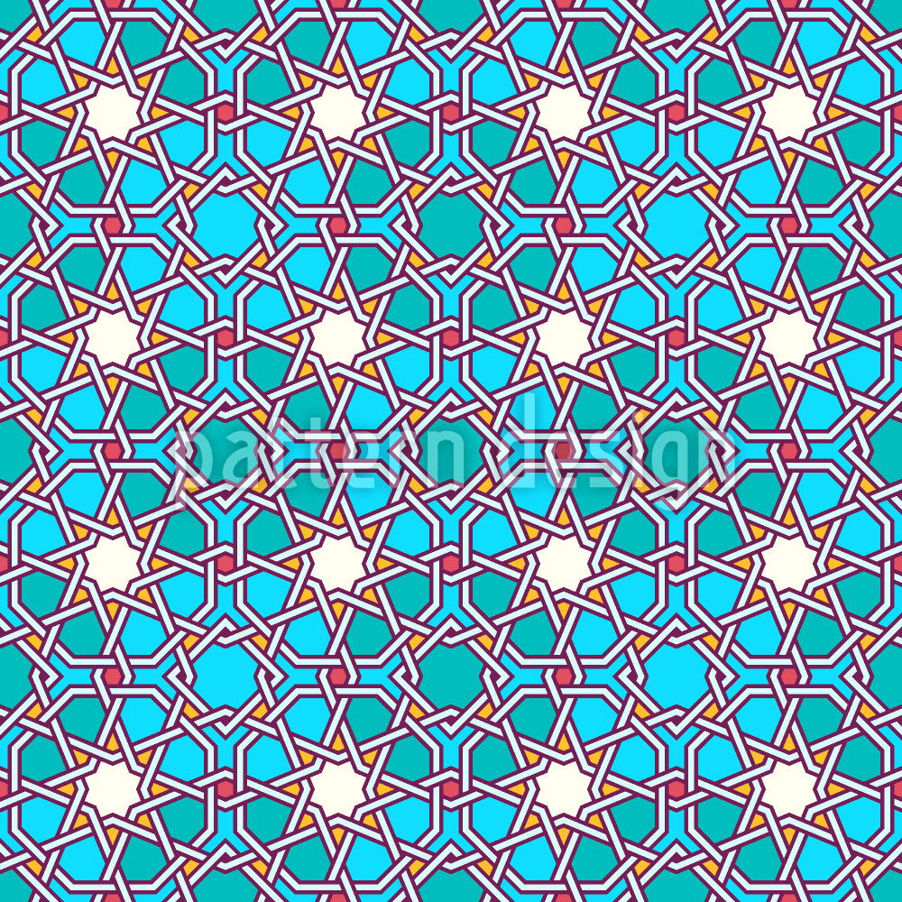 Designtapete Arabisches Gitterwerk