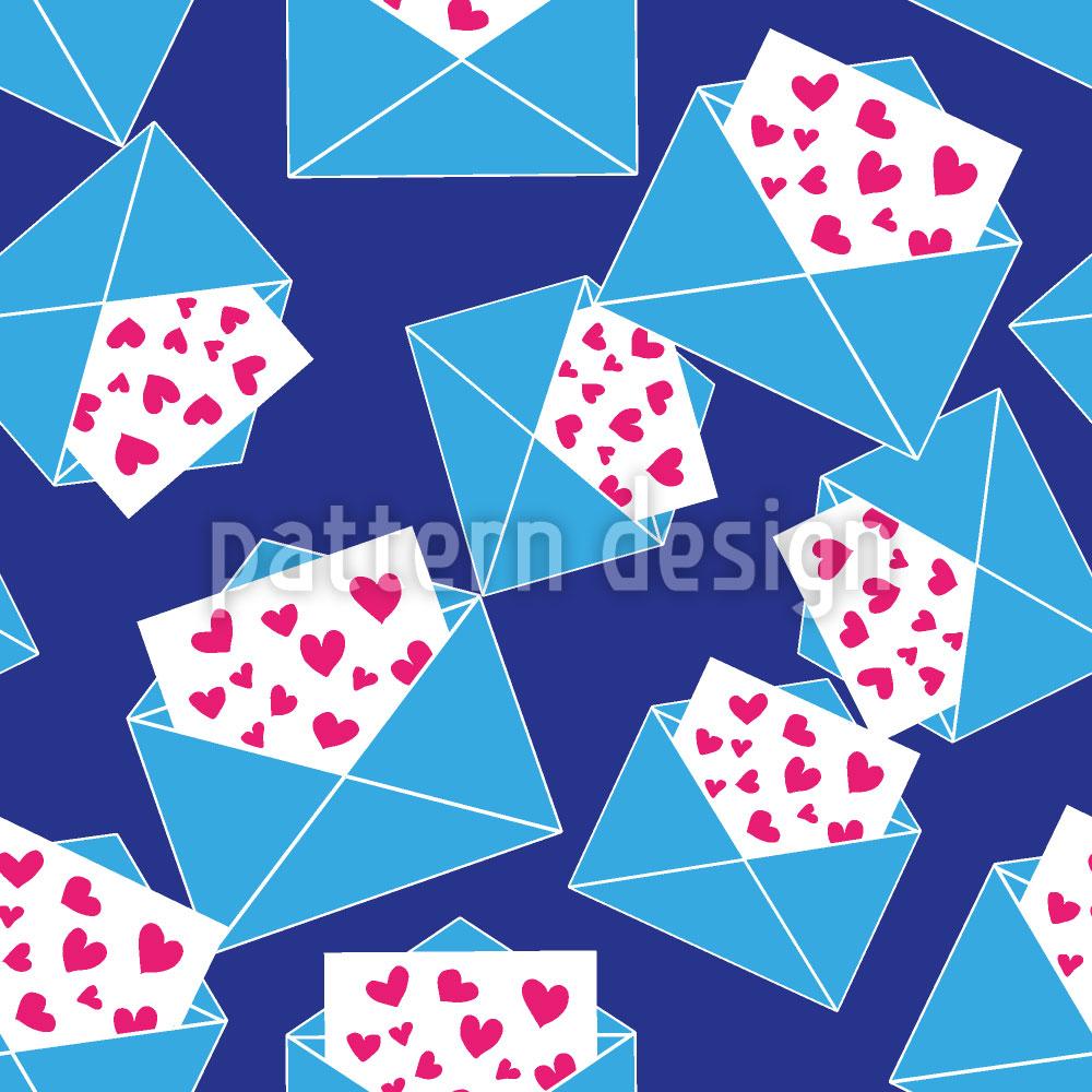 Designtapete So Viele Liebesbriefe