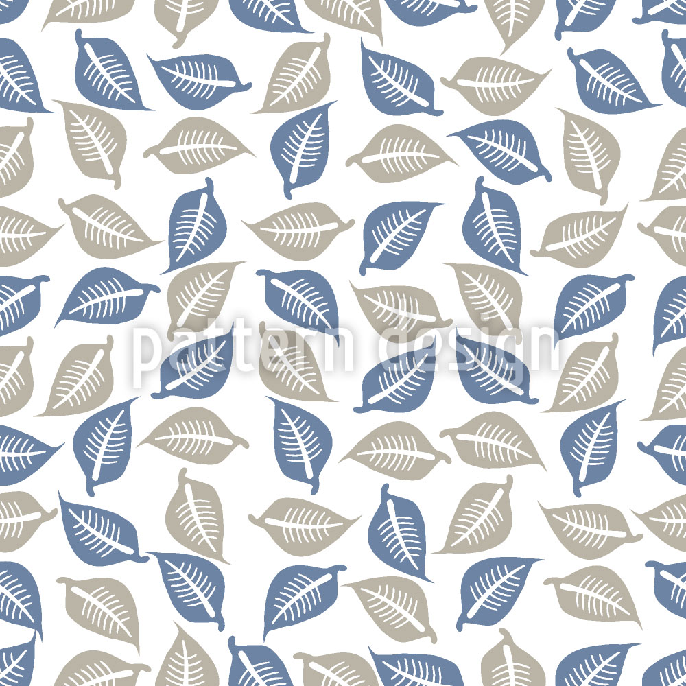 Designtapete Blätter Sammeln