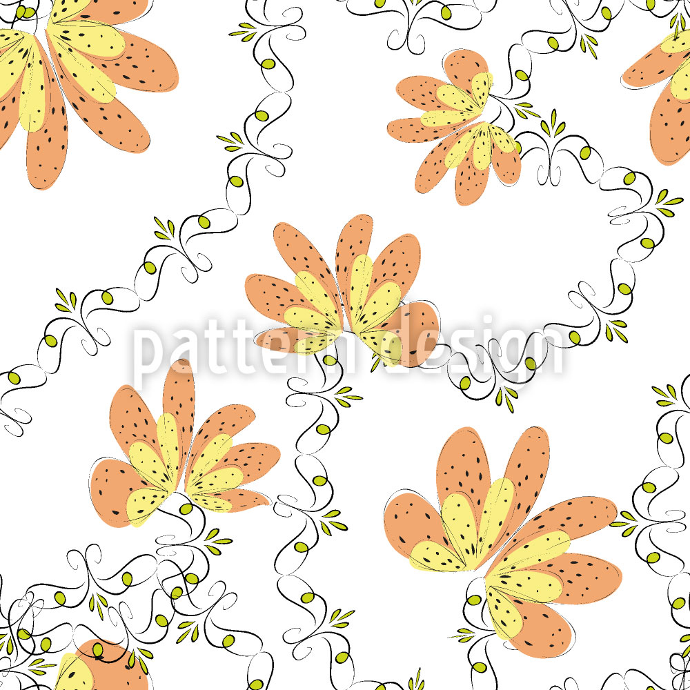 Designtapete Blütezeit