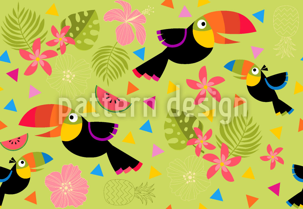 Designtapete Tropical Fun