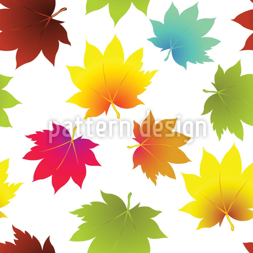 Designtapete Blätter Im Herbst