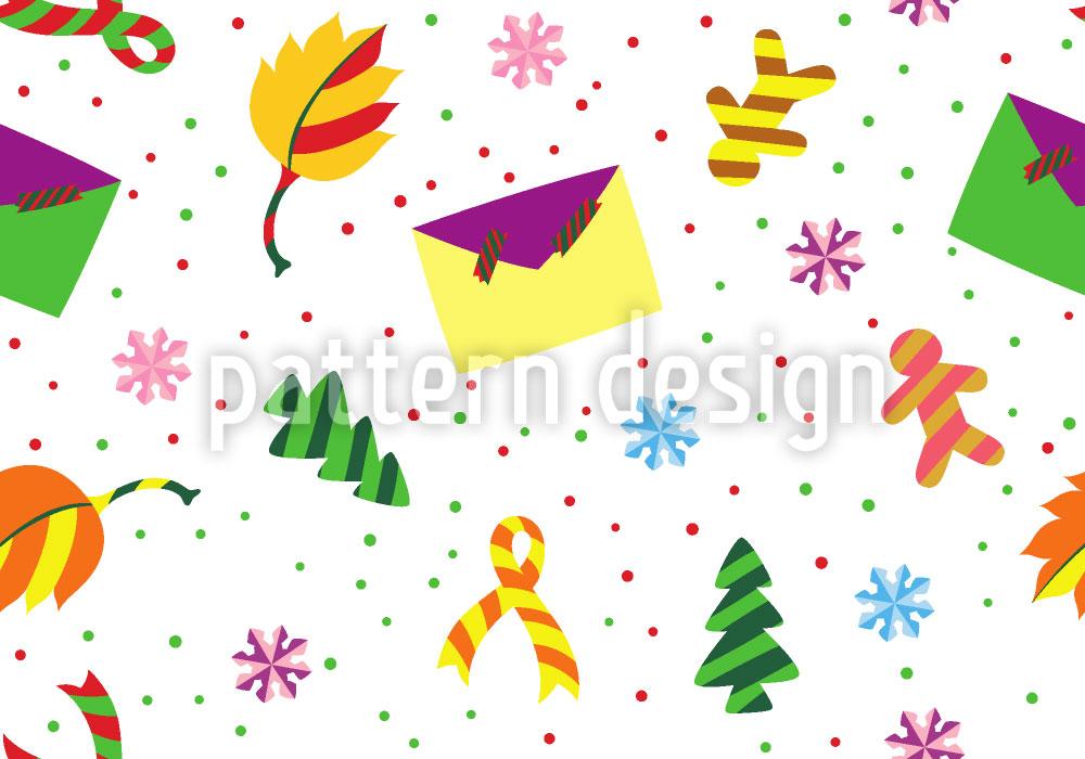 Designtapete Weihnachtspost