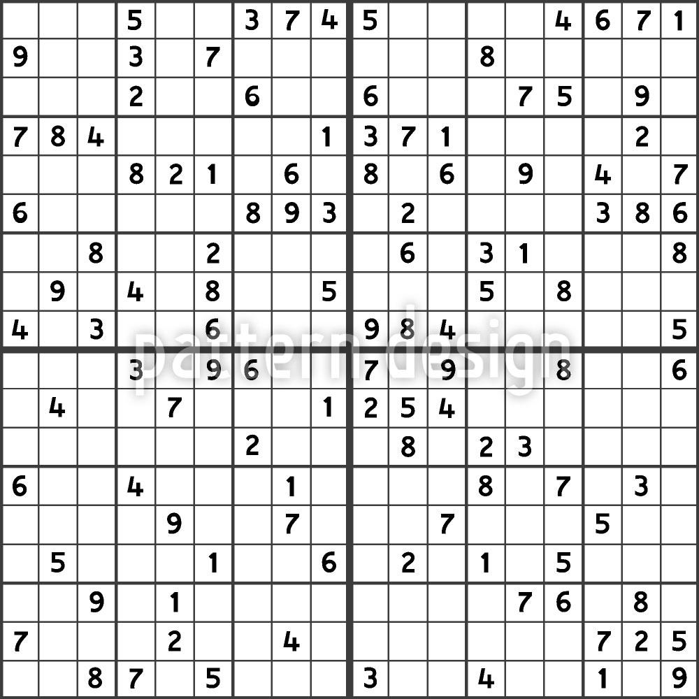 Designtapete Sudoku
