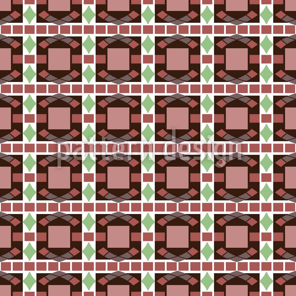 Designtapete Art Deco Mosaik