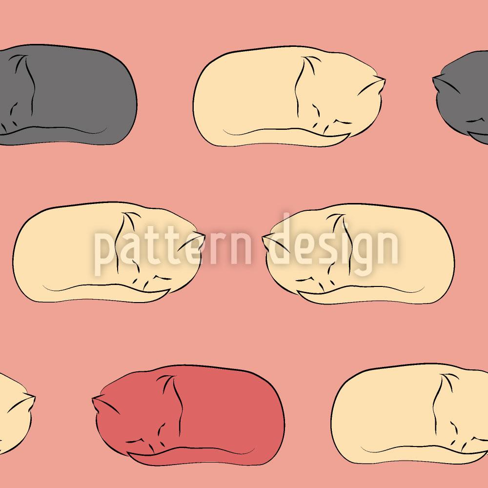 Designtapete Schlafende Kätzchen